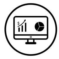 desktop screen with graphs